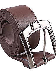 cheap -Men's Party/Evening Causal Groom/Groomsman Dark Brown PU Belt