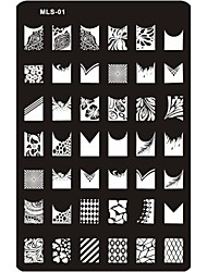 cheap -Lovely Nail Art Stamping Image Plate Nail Art Template Nail Stencil No.1