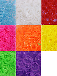 cheap -600PCS Loom Luminous Fashion Loom Band(1Package S Clip)