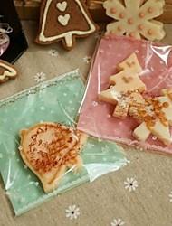 abordables -50pcs lapin mignon autocollant biscuits bonbons boulangerie biscuit cadeau de bijoux en plastique emballage sac anniversaire de bébé
