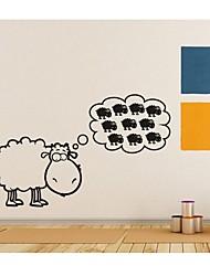 настенные наклейки наклейки на стены, украшения дома овец котировки росписи пвх наклейки для стен