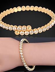 Недорогие -u7® женщин Модные ювелирные изделия 18k реальное золото платина покрытием фантазии манжеты браслет с австрийскими стразами