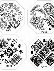 cheap -1 Other Decorations Nail Stamping Template Daily Fruit Flower Abstract Cartoon Fashion Lovely Wedding High Quality