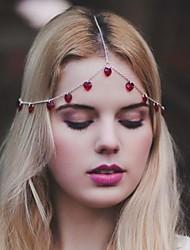 abordables -beauté glands de mode bijoux de cheveux en alliage multicolore (1pc) (rouge, noir)
