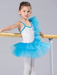 economico -Abbigliamento da ballo per bambini Top Tutù Abiti Gonne Per bambini Cotone Elastene Tulle Senza maniche