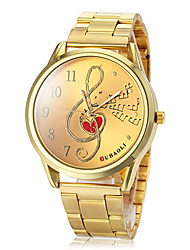 cheap -Women's Fashion Watch Wrist watch Dress Watch Quartz Alloy Band Heart shape Gold