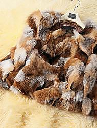 baratos -casaco de pele 3/4 de pele de raposa turndown ocasião especial / casaco de pele casuais (mais cores)