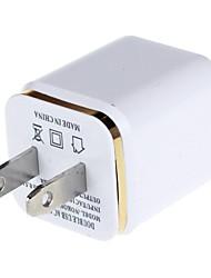 3100mAh noi spina doppia uscita usb adattatore universale con porta USB-bianco (100-240V)