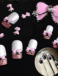 10pcs 3d attività lega manicure luminoso belle con l'arco trapano decorazioni manicure