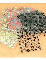 abordables -50 pcs Autocollants 3D pour ongles Bijoux pour ongles Manucure Manucure pédicure Adorable Mode Quotidien / Bijoux à ongles