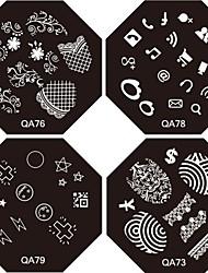 50PCS Mixed Metallic Golden & Silver Color Zipper Style 3D-Design Stickers