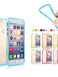baratos -Capinha Para Apple iPhone 6 iPhone 6 Plus Other Moldura Anti-Choque Sólido Macia Silicone para iPhone 6s Plus iPhone 6s iPhone 6 Plus