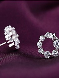 Women's Crystal Costume Jewelry Silver Sterling Silver Jewelry For