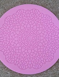 baratos -rodada rendas fondant ferramentas de bolo de chocolate silicone molde do bolo cupcake decoração, l12.7cm * * w12.7cm h0.5cm