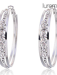 cheap -Women's Hoop Earrings Costume Jewelry Crystal Imitation Diamond Alloy Circle Jewelry For Party Daily