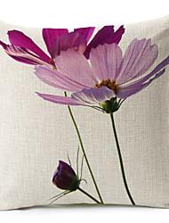 1 pçs Algodão/Linho Cobertura de Almofada,Floral Moderno/Contemporâneo