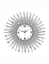 cheap -1Pc 65.0*65.0*4.0Cm  Metal Modern Style Metal Mute Wall Clock