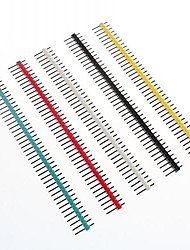 cheap -Multicolor 40-Pin 2.54mm Pitch Pin Headers (10 PCS)