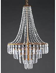 cheap -Rustic/Lodge Country Modern/Contemporary Traditional/Classic Retro Lantern Crystal Chandelier Ambient Light For Living Room Bedroom