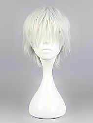 cheap -Cosplay Wigs Tokyo Ghoul Ken Kaneki Silver Short / Straight Anime Cosplay Wigs 30 CM Heat Resistant Fiber Male
