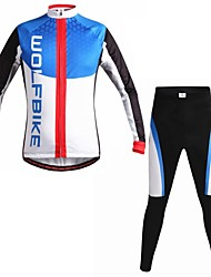 cheap -WOLFBIKE Men's Autumn and Winter Mountain Bike Breathable Clothing Set Long Sleeve Cycling Suit