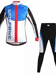 povoljno -wolfbike muške jesen i zimu mountain bike prozračna odjeća postavili dugih rukava biciklizam odijelo