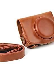Недорогие -dengpin® ретро пу кожа масло камеры кожи защитный чехол с плечевым ремнем для Canon Powershot g7 х