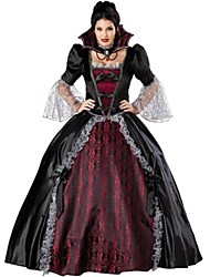 cheap -Vampire Cosplay Costume Party Costume Women's Halloween Festival / Holiday Halloween Costumes Black/Red Vintage