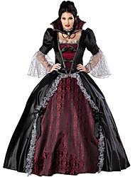 abordables -Vampire Costume de Cosplay Costume de Soirée Femme Halloween Fête / Célébration Déguisement d'Halloween Noir/Rouge Rétro