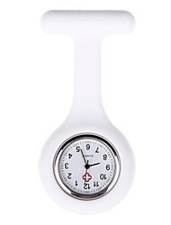 cheap -Women's Pocket Watch Casual Watch Silicone Band Candy color Black / White / Blue / One Year