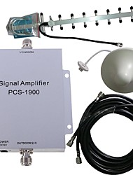 abordables -pcs 1900MHz signal de mobile amplificateur de puissance kit antenne booster 500m²