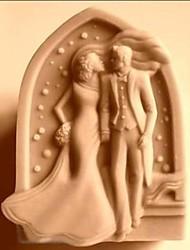 baratos -Bolo de casamento em forma de bolo de fondant Chocolate Molde de silicone Molde de bolo, ferramenta de cozimento