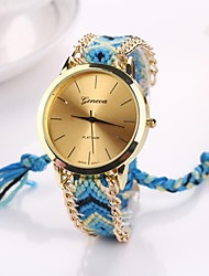 Women Big Circle Dial  National Hand Knitting Brand Luxury Lady Watch C&D-282 Cool Watches Unique Watches Fashion Watch