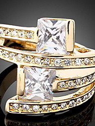 cheap -Women's Statement Ring - Zircon, Cubic Zirconia, Gold Plated Luxury, Fashion One Size Screen Color For Party / Imitation Diamond / Alloy