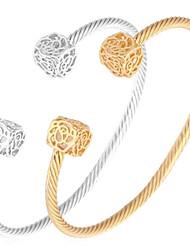 Femme Manchettes Bracelets Bracelet Zircon cubique Zircon Strass Platiné Plaqué or Alliage Mode Argent Doré Bijoux