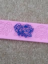 abordables -rose en forme de fleur gâteau fondant dentelle moule en silicone chocolat