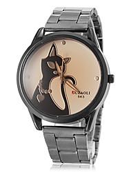 Women's Dress Watch Fashion Watch Wrist watch Quartz / PU Band Cat Brown