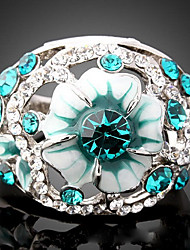 cheap -Women's Statement Ring Light Blue Screen Color Cubic Zirconia Imitation Diamond Alloy Luxury Fashion Party Costume Jewelry