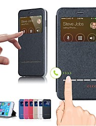 Недорогие -смарт переднего стекла искусственная кожа флип чехол для iphone 6 плюс