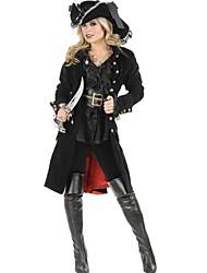 Costumi da pirata Costumi Cosplay Vestito da Serata Elegante Donna Halloween Natale Carnevale Feste/vacanze Costumi Halloween Nero Collage