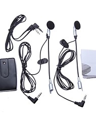 cheap -Motorcycle Helmet to Helmet Intercom Set 2 Headsets MP3 Input