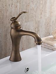 cheap -Bathroom Sink Faucet with Antique Brass finish Antique design faucet