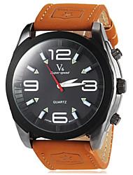 cheap -JUBAOLI® Men's Round Dial Military Khaki Color PU Band Quartz Wrist Watch (Assorted Colors) Cool Watch Unique Watch