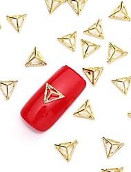 Недорогие -50шт 3d золото Nail Art сплава ломтик металлик золотой шпильки ювелирные изделия блестящий заклепки гвоздь для дизайна ногтей