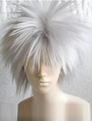 Parrucche Cosplay Naruto Hatake Kakashi Bianco Corto Anime Parrucche Cosplay 30 CM Tessuno resistente a calore Uomo