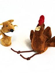 economico -finger manica pollo + volpe peluche (2 pezzi)