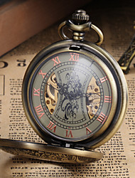 cheap -Men's Watch Pocket Watch Mechanical Vintage Alloy Bronze Case Cool Watch Unique Watch