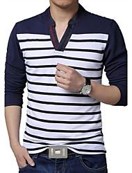 povoljno -Veći konfekcijski brojevi Majica s rukavima Muškarci Prugasti uzorak