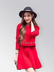 cheap -Women's Going out Above Knee Dress Long Sleeves