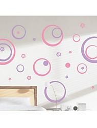 baratos -12-set decalques de parede adesivos de parede, diy polka círculo pvc adesivos de parede de 12 cores